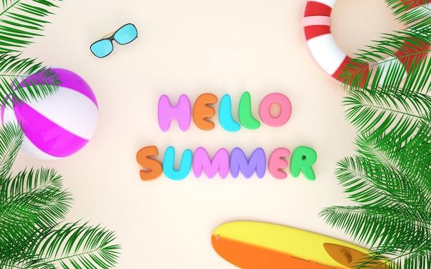 Bioscoop 4d-weergave van zomerachtergrond