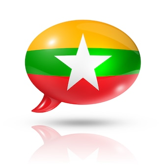 Birma myanmar vlag tekstballon