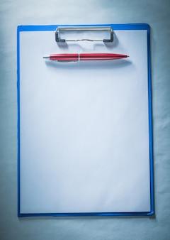 Biro pen blanco vel papier klembord