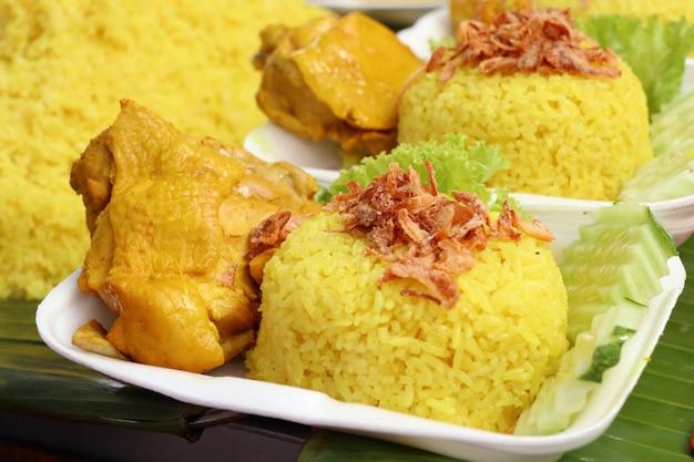 Biryani rijst met kip