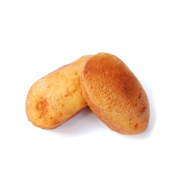 Biscuitgebak geïsoleerd op een witte achtergrond