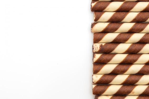 Biscuitwafelsticks met chocoladeroomsmaak