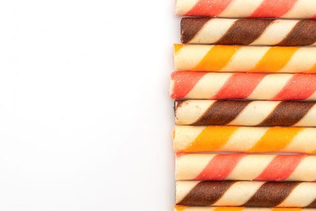 Biscuitwafelstok met chocoladeroomsmaak