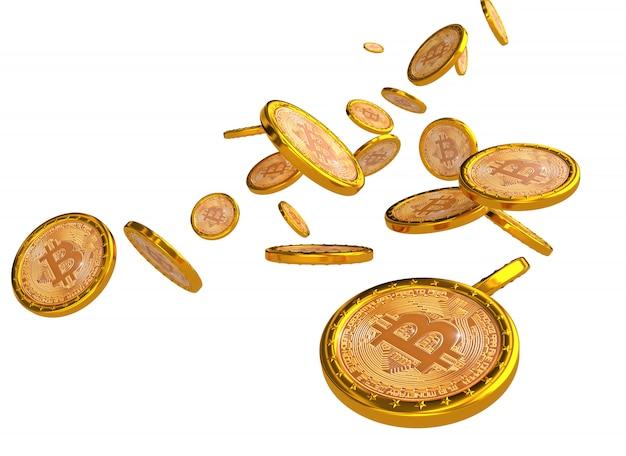 Bitcoin 3d-achtergrond