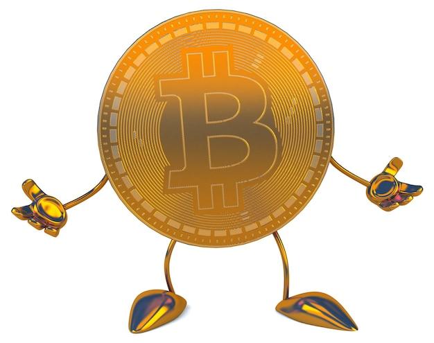 Bitcoin - 3d-afbeelding