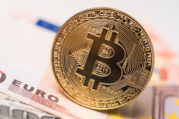 Bitcoin concept munt