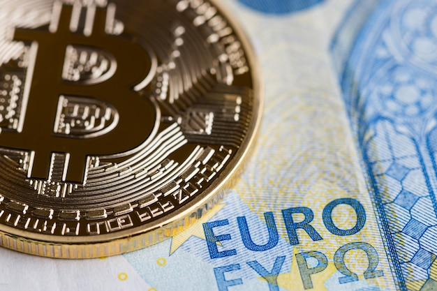 Bitcoin cryptocurrency is digital payment money concept