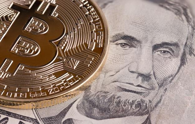 Bitcoin cryptocurrency is modern van exchange digital betaalgeld, gold bitcoins