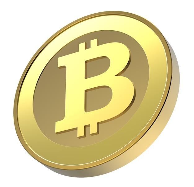 Bitcoin geïsoleerd op wit.