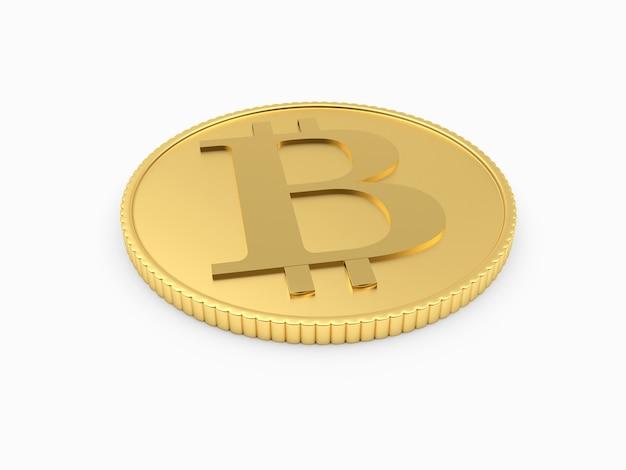 Bitcoin gouden munt 3d