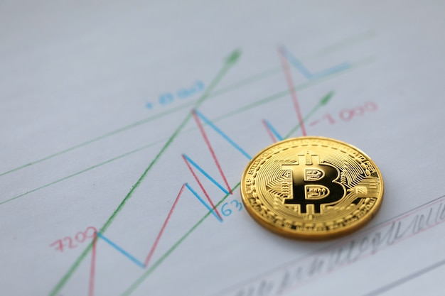 Bitcoin grafiek bedrijf geweldig ontwerp voor alle doeleinden