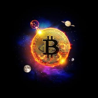 Bitcoin in de ruimte