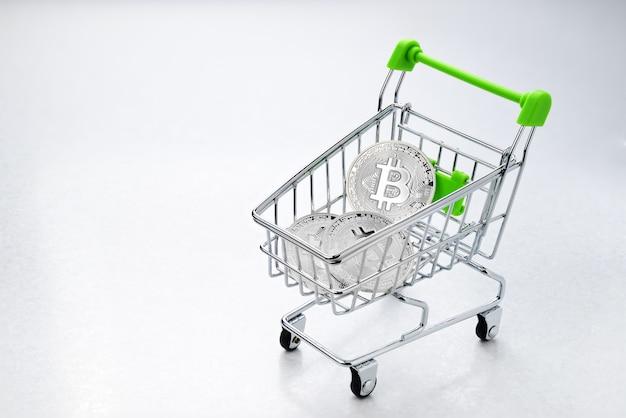 Bitcoin in het winkelwagentje