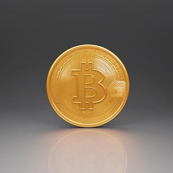 Bitcoin-munten-symbool handelen op de cryptocurrency-uitwisseling digitale valuta.