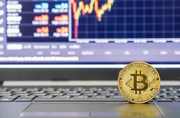 Bitcoin-valutamunten met handelsbeursmarktprijsgrafiek