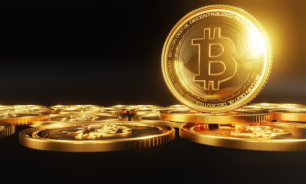 Bitcoins en nieuw virtueel geldconcept