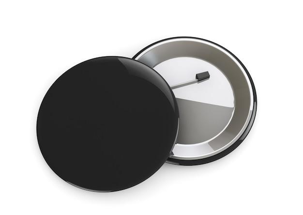 Black badges voor- en achteraanzicht op een witte achtergrond