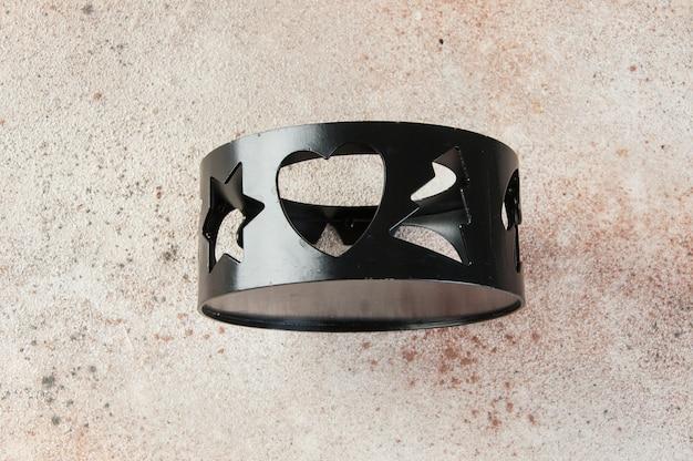 Black christmas stoomtafel op een beton