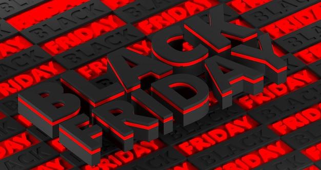Black friday 3d-rendering