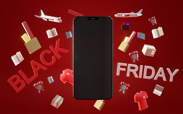 Black friday-aanbiedingen met smartphone
