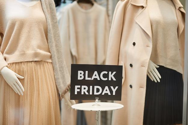 Black friday aanmelden winkelvenster