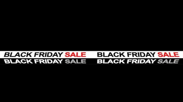 Black friday-de bannerachtergrond van het verkoopteken