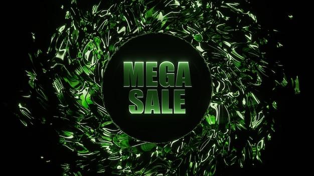 Black friday mega sale e-commerce bannerontwerp