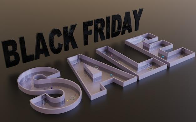 Black friday sale ontwerp achtergrond afbeelding marketing promotie evenement winkel winkel 3d render