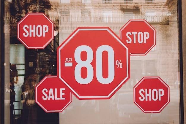 Black friday, tot 80% korting op verkooppromotie promotie verkoopposter