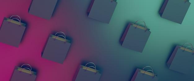 Black friday-uitverkoop met boodschappentas