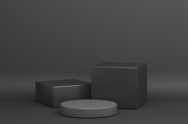 Black friday-verkoop 3d podium