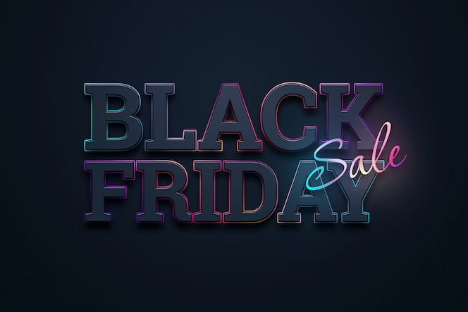 Black friday verkoop belettering illustratie