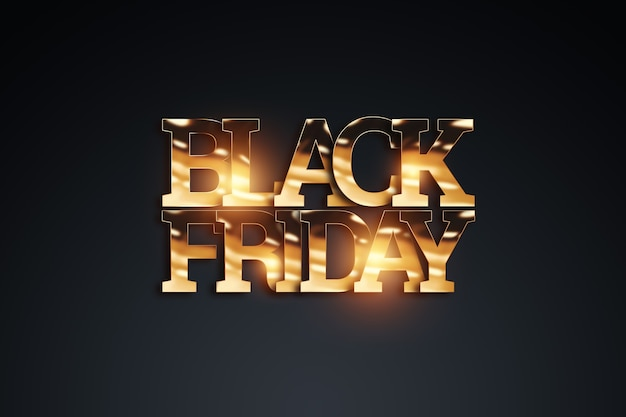 Black friday-verkoopbelettering in gouden letters.