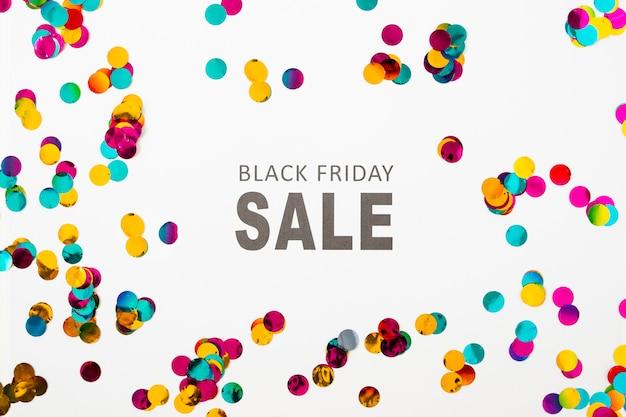 Black friday-verkoopinschrijving op witte lijst