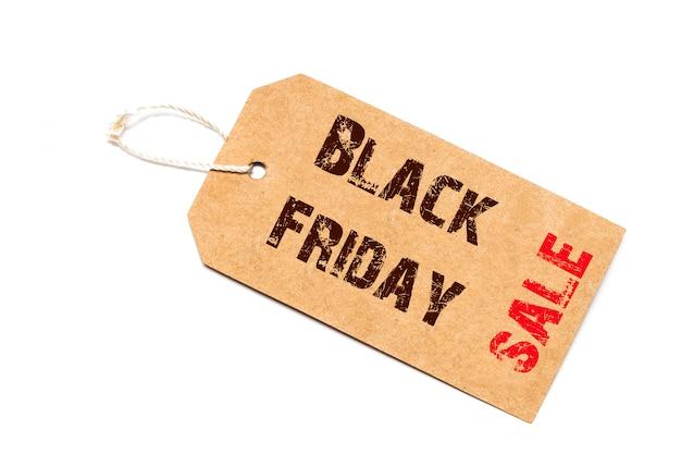 Black friday-verkoopteken met draad