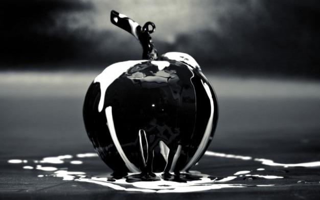 Black glass apple