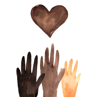 Black lives matter illustratie