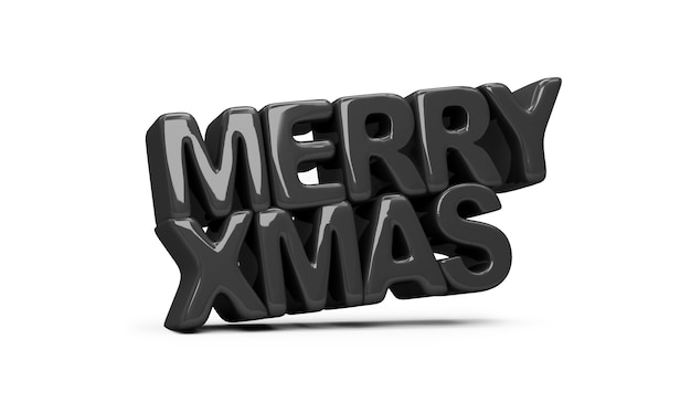 Black style merry christmas-symbool op witte achtergrond