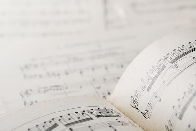 Blad muzieknoten