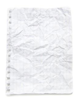 Blad van notitieboekje
