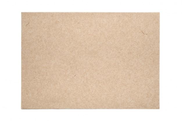 Blad van traditionele handgeschept papier op witte tafel
