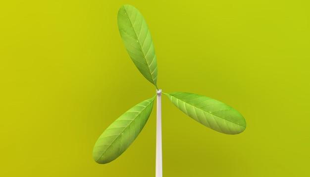 Blad windmolen eco concept