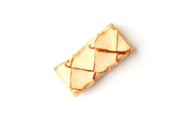 Bladerdeeg cookies geïsoleerd op wit.