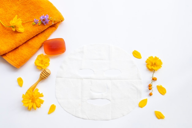 Bladmasker, honingzeep gezondheidszorg voor huidgezicht