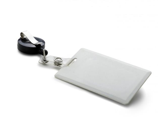 Blanco identificatiebadge
