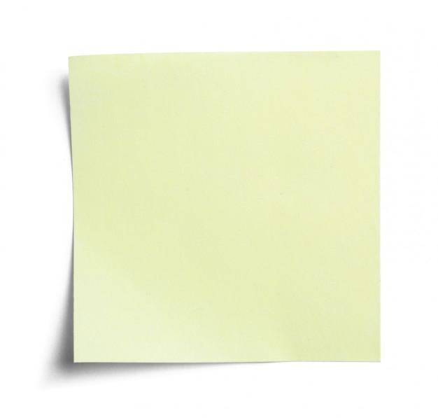 Blanco notitiepapier