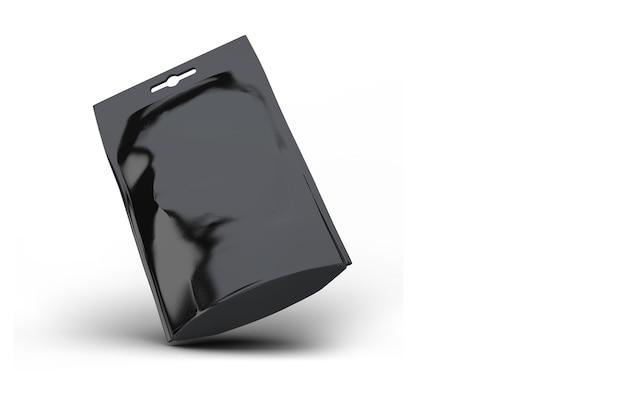 Blanco snackpakket zwart folie