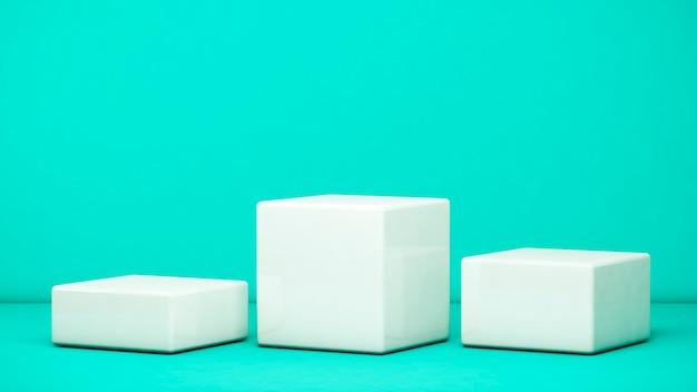 Blanco sokkels voor het tonen van product