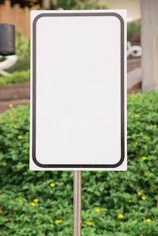 Blanco verkeersbord