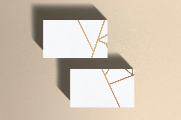 Blanco visitekaartje met kopie ruimte